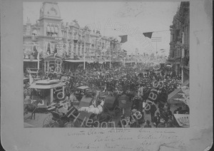 Image of Native Sons of the Golden West Parade, looking east on Santa Clara Street from First Street